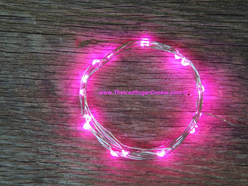 Pink LED Battery Operated Fairy Lights