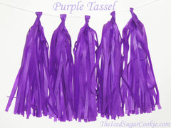 DIY Purple Tissue Paper Tassel