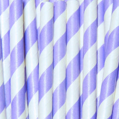 Mermaid Purple Striped Straws