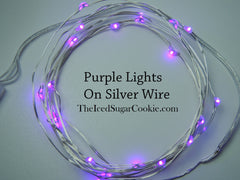 Purple Birthday Party Lights