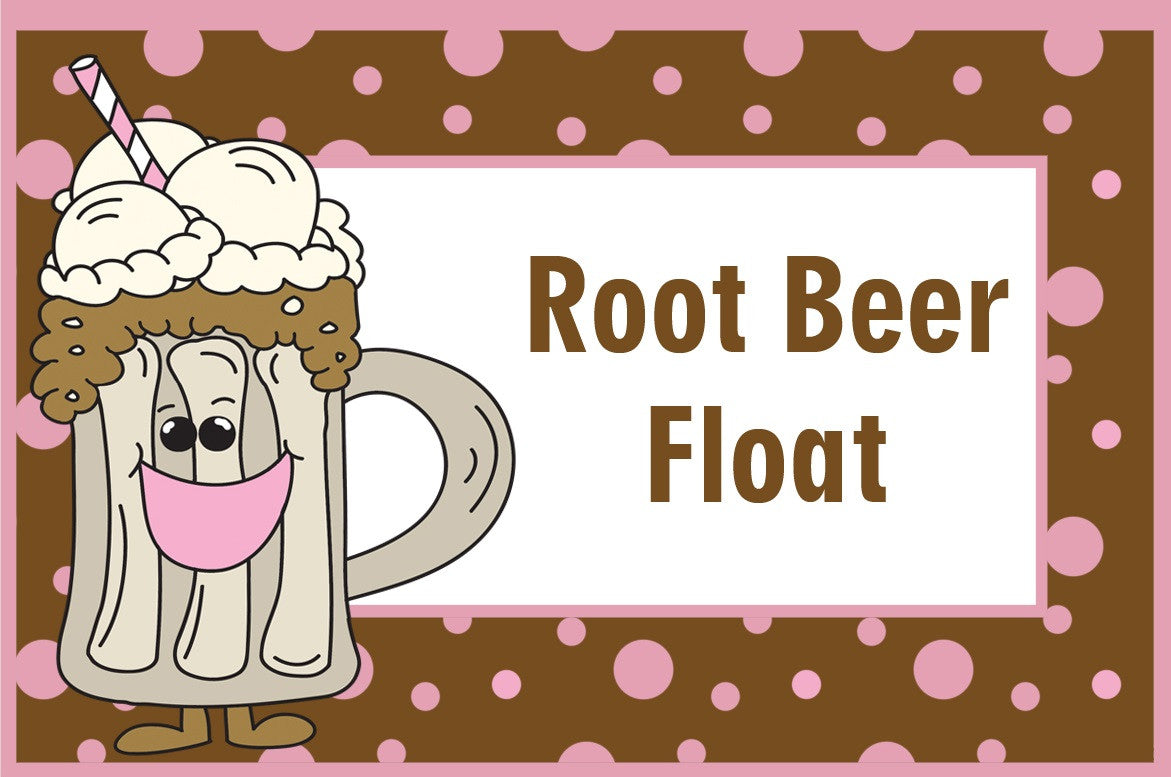 Root Beer Float Birthday Party Food Label Tent Cards Printable DIY Ideas Digital Download The Iced Sugar Cookie