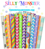 Silly Monster Straws-25 Count