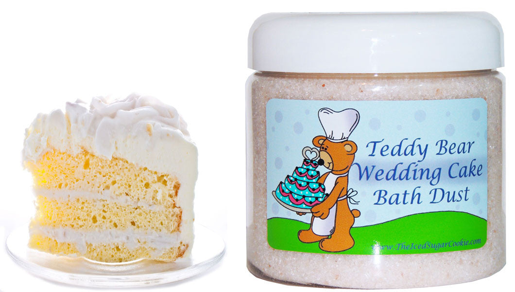 Teddy Bear Wedding Cake Bath Dust
