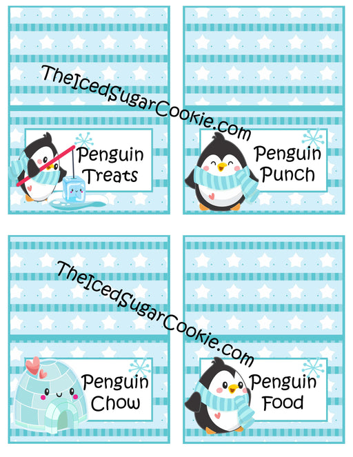 104 Printable Penguin Christmas Food Cards