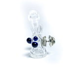 basic bubble dark purple mini glass pin