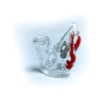 Spiked Bubble Mini Glass Pin - Red Swirl (14)