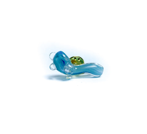 Sherlock Mini Glass Pin - Light Blue - Extra Small (21)