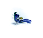 sherlock navy blue mini glass pin
