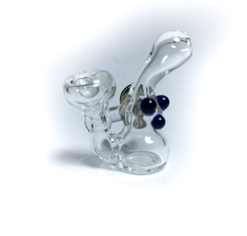 basic bubble navy mini glass pin