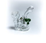 basic bubble green mini glass pin