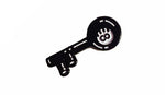 8 ball key soft enamel pin