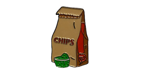 chips and guac soft enamel pin