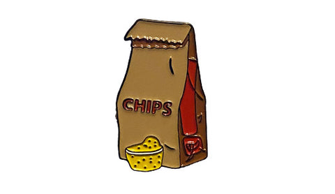 chips and queso enamel pin