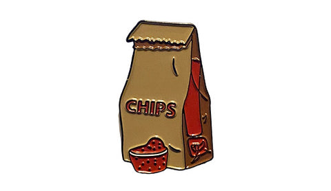 chips and salsa enamel pin