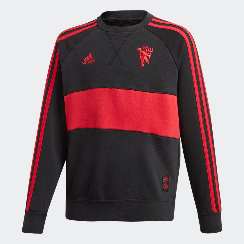 Manchester United Youth Adidas Crew Neck Sweater