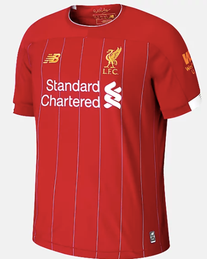 Liverpool FC Home Replica Short-Sleeve Jersey 2019/2020 - soccerhome.ca