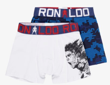 CR7 2pk White and Blue Boxer - Boy's - soccerhome.ca