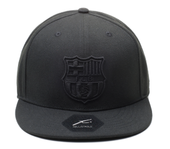 FC Barcelona All Black Flat Peak Cap - soccerhome.ca
