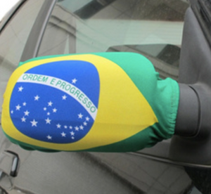 Brazil Car Mirror Cover - soccerhome.ca