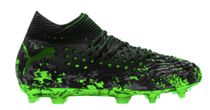 Puma Jr Future 19.1 FG (Black/Green) - soccerhome.ca