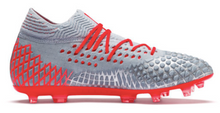 Load image into Gallery viewer, Puma Future 4.1 Netfit FG (Grey/Red) - soccerhome.ca
