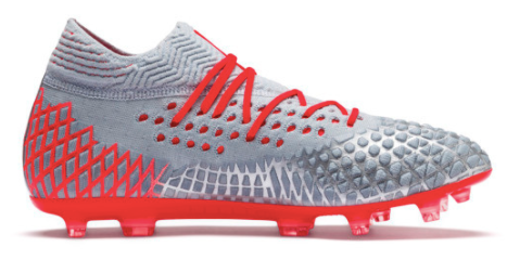 Puma Future 4.1 Netfit FG (Grey/Red) - soccerhome.ca