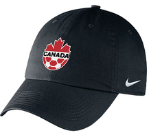Load image into Gallery viewer, Canada Soccer Nike Adjustable Campus Cap - Black - soccerhome.ca