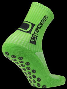 Tape Design Socks - Classic Adult Neon Green - soccerhome.ca