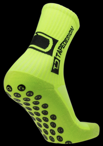Tape Design Socks - Classic Adult Neon Yellow - soccerhome.ca