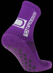 Tape Design Socks - Classic Adult Purple - soccerhome.ca
