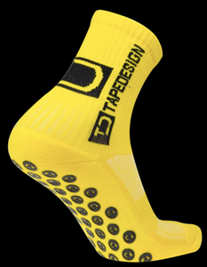 Tape Design Socks - Classic Adult Yellow - soccerhome.ca