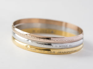 Engraved bracelet, personalized inspirational - New View Clothing