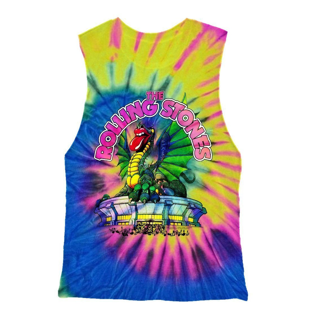 Rolling Stones | Dragon Tie Dye Racerback Tank Top - New View Clothing