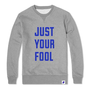 Rolling Stones Just Your Fool - Mens Heather Grey Crew Neck Fleece - New View Clothing