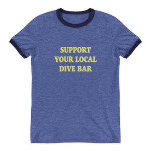Support Your Local Dive Bar Ringer Tee - New View Clothing
