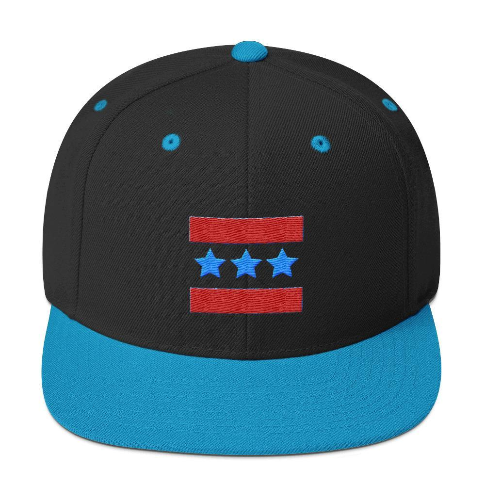Triple Star Snapback Hat - New View Clothing