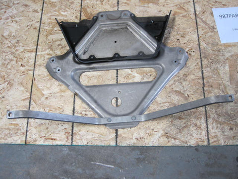987.1 engine/transmission plate
