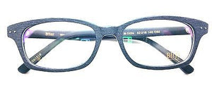 Bliss Eyeglasses Frame Rxable Woodlike Vintage Designer Bl WE 9206 C2