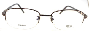 Prescription Eye Glasses Frame, Plastic Fashionable Metal Frame Bl Sk 9503 Gold