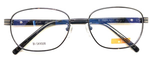 NEW Prescription Eye Glasses Frame, Fashionable Metal Frame Bl SK 9508 Gray