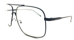 Special Large Square Metal Black 1490 (FREE Rx Lens included)