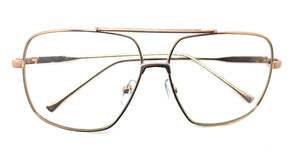 Special Large Square Metal Gold 1490 (FREE Rx Lens included)