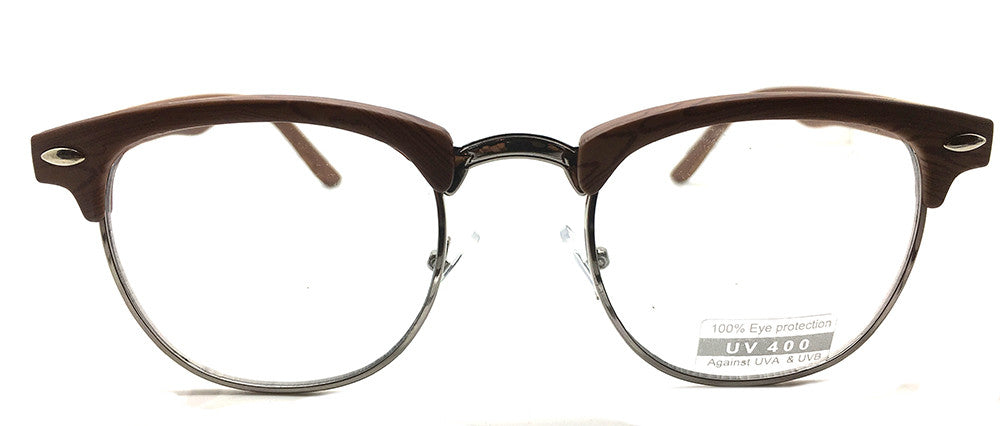 Special Round Metal and Plastic Brown 8733 (FREE Rx Lens included)
