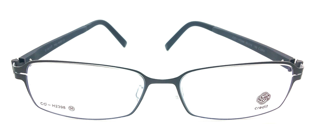Credit 2398 Titanium and Metal Hybrid Eyeglasses Frame CD H2398 C2BM