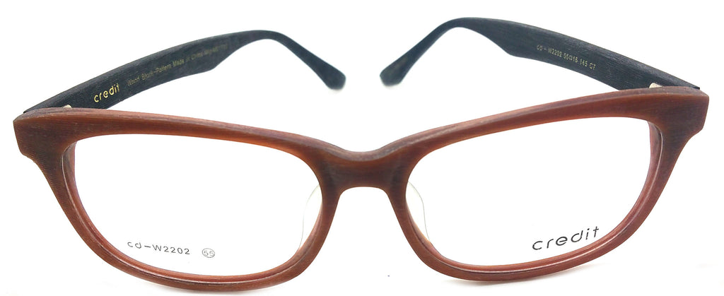 Credit Prescription Eye Glasses Frame, Rxable Woodlike Vintage Designer  Frame Cd- 2202 C7