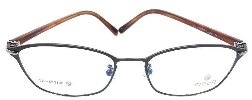 Credit Prescription Eye Glasses Frame, Plastic Fashionable Frame Cd 3806 C6