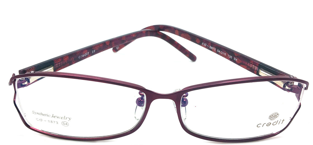 Credit Prescription Eye Glasses Frame, Plastic Fashionable Frame Cd 873 C1