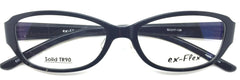 ex- Flex Eyeglasses Prescription Frame Super Light, Flexible,  Solid TR 90 C1
