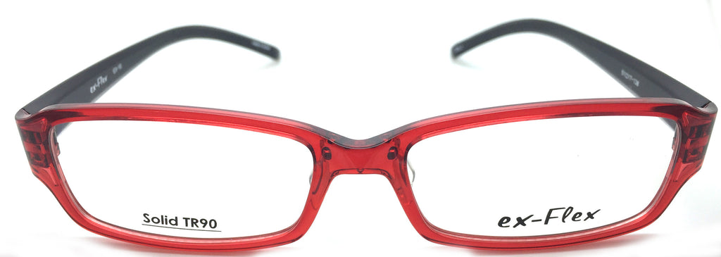 ex- Flex Eyeglasses Prescription Frame Super Light, Flexible,  Solid TR 90 C2