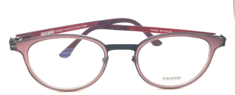Piovino Prescription Eyeglasses Soltax Hybrid Metal and Ultem PV 2344 Wine